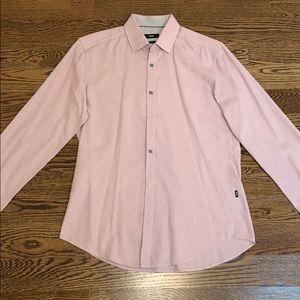 Men's Hugo Boss Pink Slim Fit M Collared Shirt